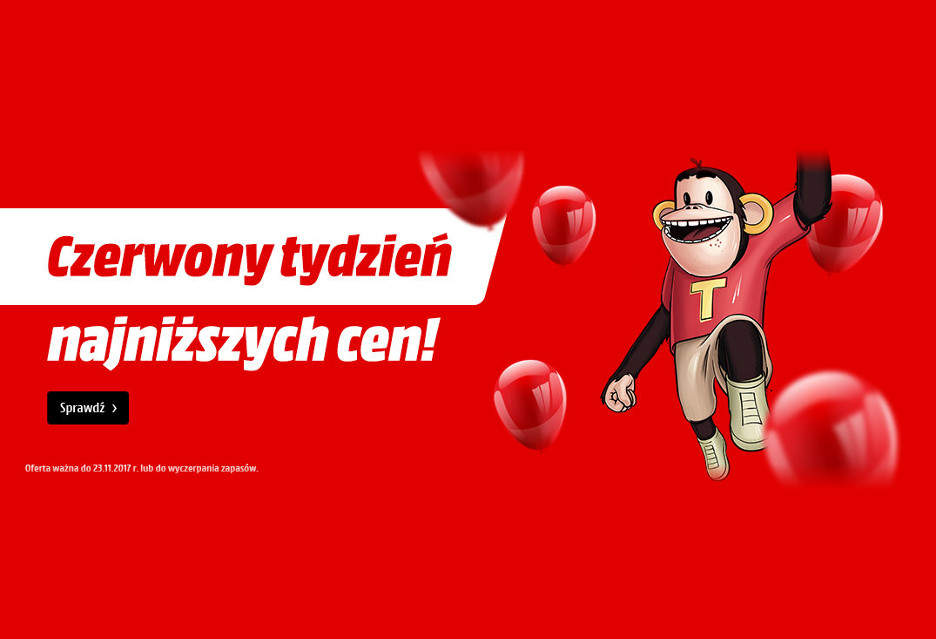74d1865e23f4b Od dzisiaj aż do najbliższego czwartku (23 listopada) w sklepie  internetowym MediaMarkt.pl trwa. To wyjątkowa akcja, która pozwoli obłowić  się jeszcze przed ...