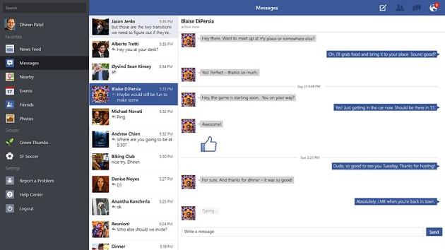 facebook  aplikacja windows