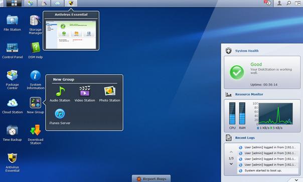 diskstation manager screen