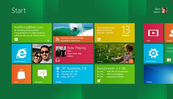 Windows 8 system ekran pulpit