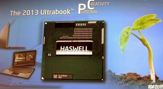 Intel Haswell procesory IDF 2011 slajd