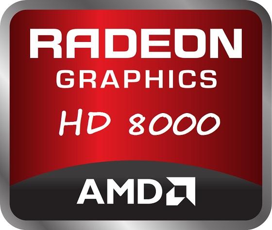 AMD Radeon HD 8000 logo karta graficzna