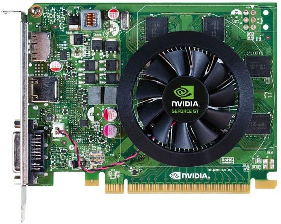 Nvidia GeForce GT 640 karta graficzna góra zdjęcie