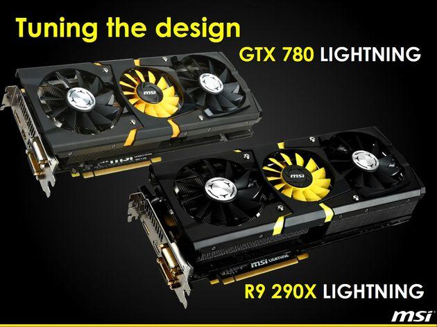 MSI Radeon R9 290X Lightning i GeForce GTX 780 Lightning karta graficzna