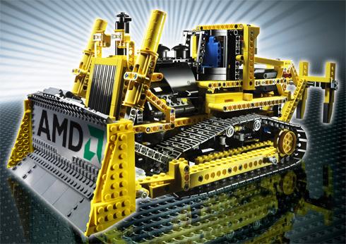 AMD Bulldozer zabawka klocki zdjęcie
