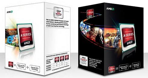 AMD APU Trinity procesory opakowanie zdjęcie