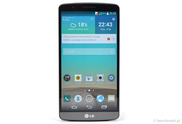 LG G3 - przód