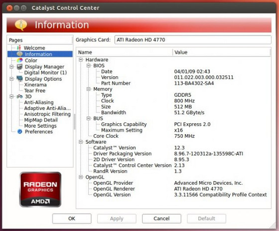 amd catalyst linux control center
