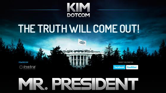 kim dotcom szmitz megaupload walka piosenka mr president biały dom