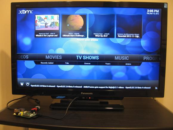 raspberry pi centrum multimedialne xbmc