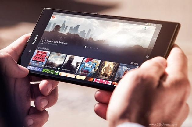 Sony Xperia Z Ultra phablet poziomo