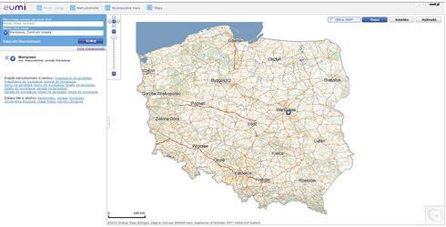 mapa polski google. jedynie może mapę Polski.